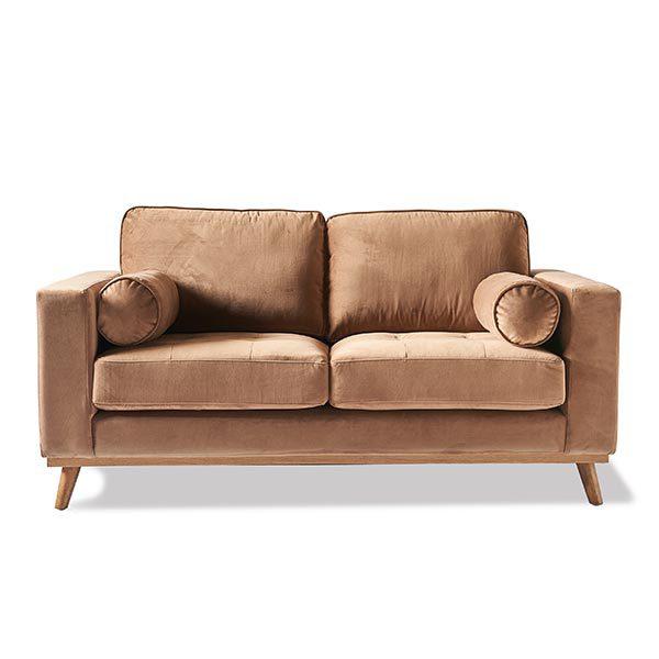 Notting Hill Sofa 2s Vel Caramel Kiki